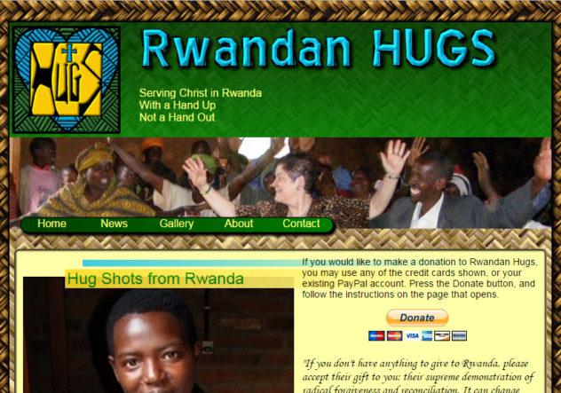 RwandanHUGS.com Nancy Strachan missionary to Rwanda